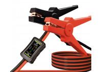 Câbles de démarrage professionnels 16 mm avec testeur de batterie intégré