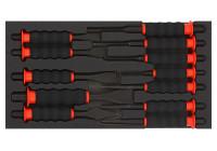 Jeu de roues à cordes avec Softgrip 12 pcs. SFS 1/3