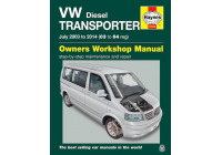 Haynes Workshop manual VW T5 Transporter (juillet 2003-2015)