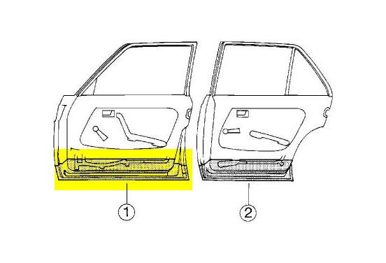 Plaatwerkdeel Edes 123 76 Onderkd 4 Deurs V Voor O A Mercedes Benz