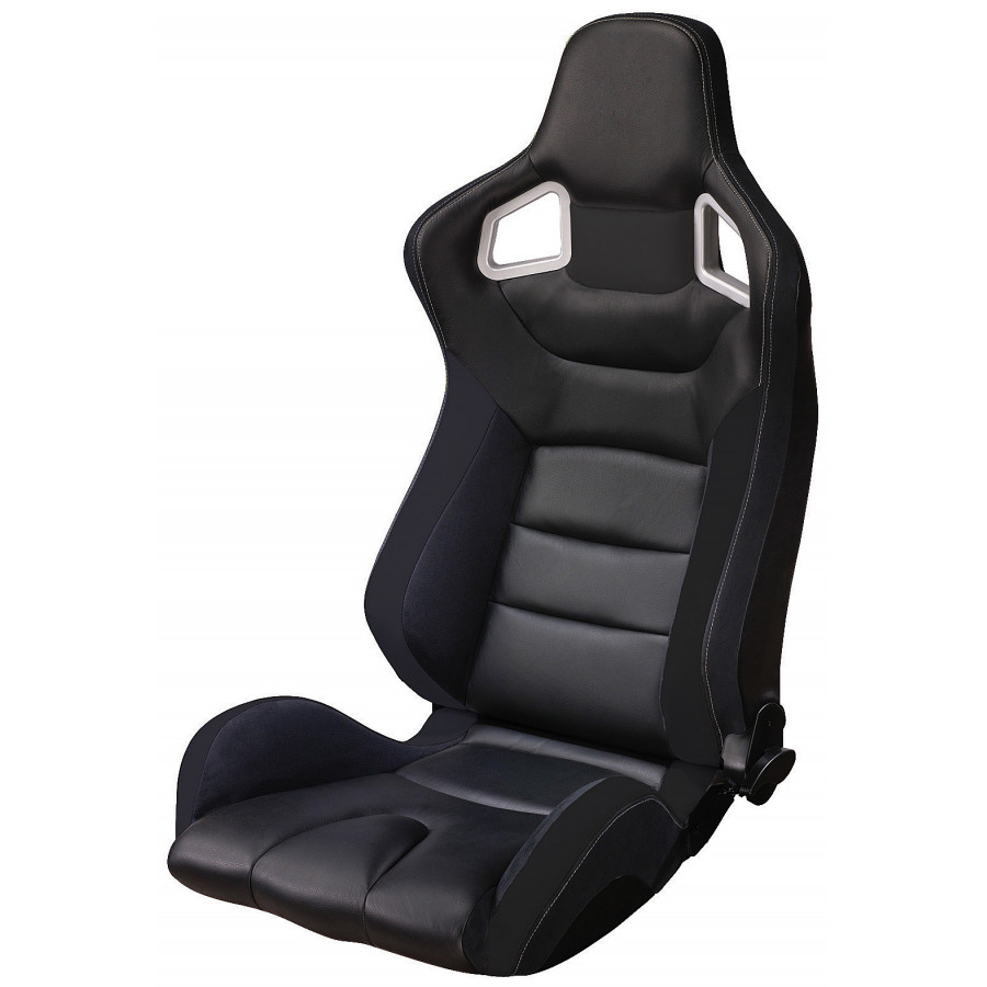 sportstoel type rs6 black pvc ss 66z autostyle winparts. Black Bedroom Furniture Sets. Home Design Ideas