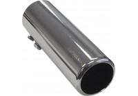 Avgasförlängare Stål / Chrome - runt 50mm - 150mm längd - 44-47mm aanlsuiting