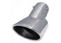 Simoni Racing Avgastrim Oval rostfritt stål - 116x86xL180mm - Montering 46-> 74mm
