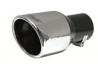 Simoni Racing Exhaust trim Round / Oblique stål - Diameter 90mm- Höjd 175mm - 57mm Montering