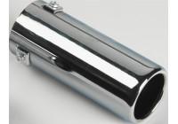 Avgasförlängare Stål / Chrome - runt 70 mm - 170 mm längd - 35-57mm anslutning