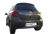 100% rostfritt avgassystem Toyota Yaris II 1.8TS (133pk) 2006- 102mm