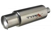 Sportavgas Universal Type X Racing 'DualSound' - Ø150mm - Rak Tips