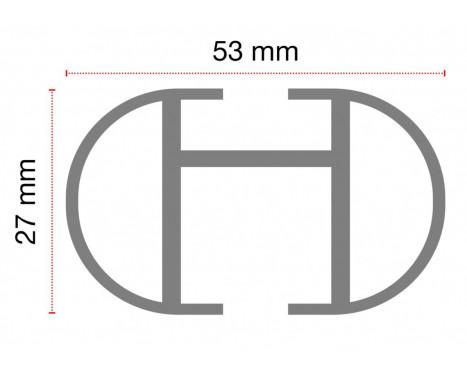 Barre de toit G3 Easy System aluminium 130, Image 4