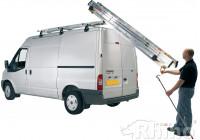 Safestow; Lastning och lossning av extra bred stege