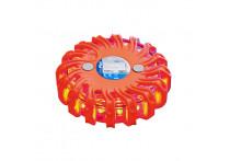 Waarschuwings-disk 16LED oranje