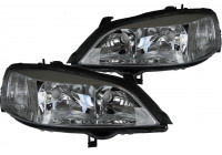 Strålkastarsats lämplig för Opel Astra G Chrome 20-5488-08-2 + 20-5487-08-2 TYC