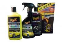 Meguiars Car Care Kit (tvätt och vax, snabbvax och högglansdäckgel)