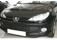 Motorhuv täcka Peugeot 206 1999-2005 svart