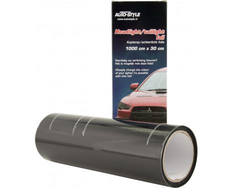 Headlight / tail light foil - Black - 1000x30 cm, Image 2