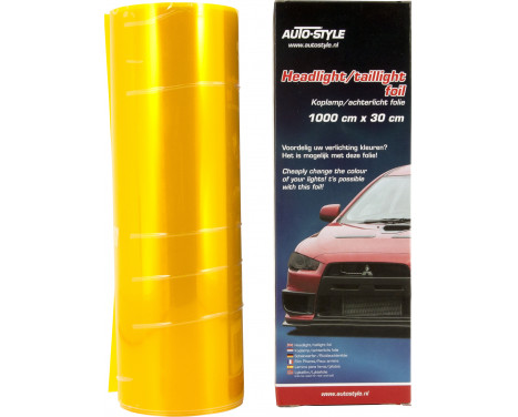 Headlight / tail light foil - Yellow - 1000x30 cm, Image 2