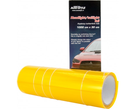 Headlight / tail light foil - Yellow - 1000x30 cm, Image 3