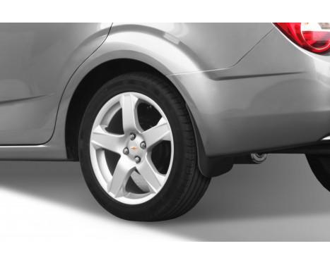 mud flap set (mudflaps) Rear CHEVROLET Aveo sedan 2012-> 2 pcs., Image 2