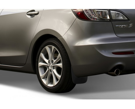 mud flaps set (mudflaps) Rear MAZDA 3 sedan 08 / 2009-2011 2 pcs, Image 2