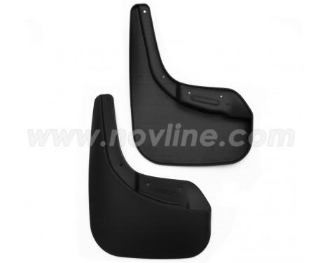 Mudflap kit (mudflaps) Rear CITROEN C-elysee 2013 -> / PEUGEOT 301 2013 ->, sed. 2pcs.