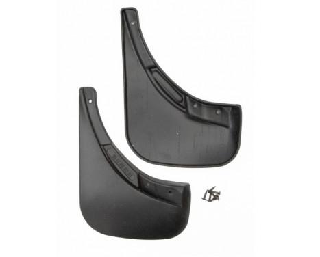 Mudflap kit (mudflaps) Rear FIAT 500, 2011-> 2pcs. Polyurethane
