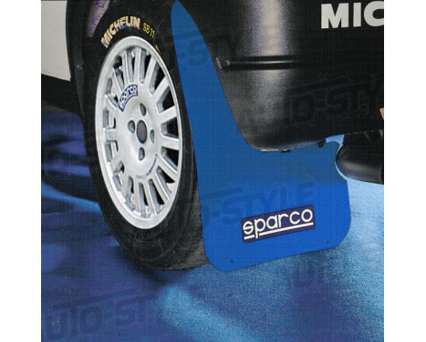 Sparco Universal mud flaps 'Large' - Blue, Image 2