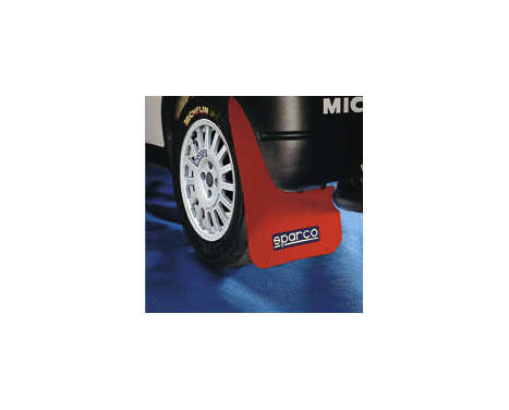Sparco Universal mud flaps 'Large' - Red, Image 2