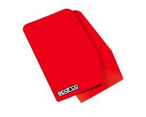Sparco Universal mud flaps 'Large' - Red