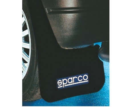 Sparco Universal mudflaps 'Large' - Black, set of 2 pieces, Image 2