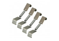 Number plate clamp 4 pieces