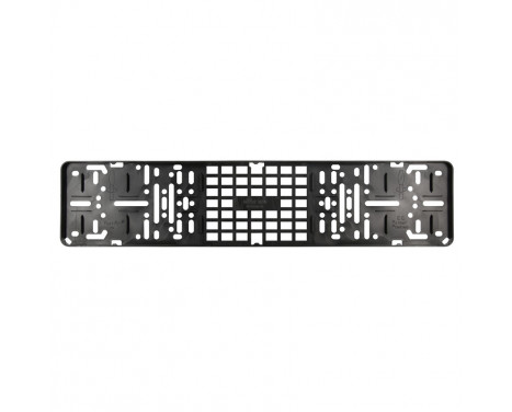 Number plate holder black model click without text beach