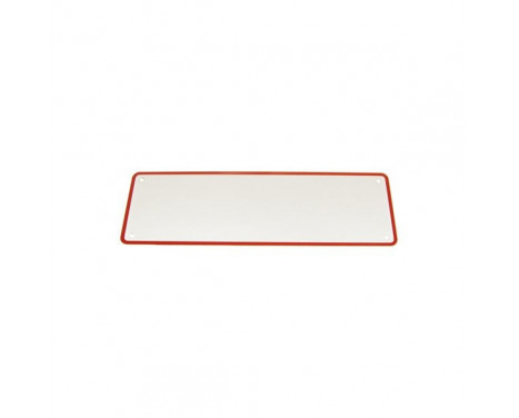 Number plate short red