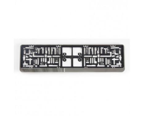 Plastic Number plate holder 'Click' 52x11cm Chrome