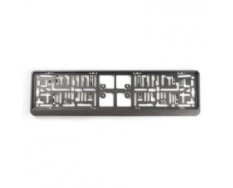 Plastic Number plate holder 'Click' 52x11cm Gunmetal