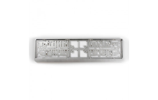 Plastic Number plate holder 'Click' 52x11cm Silver