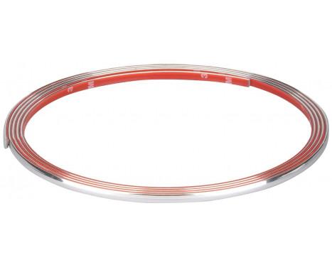 Chrome Trim Flat 7mm x 3mtr 3M Tape