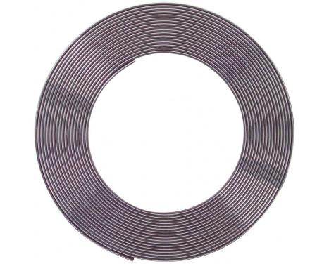 Chrome Trim strip Flat 21x3mm 5mtr 3M Tape