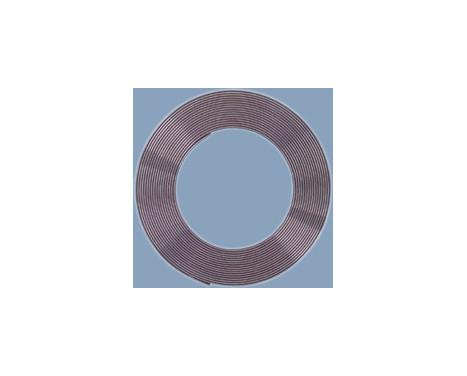 Chrome Trim strip Flat 21x3mm 5mtr 3M Tape, Image 2