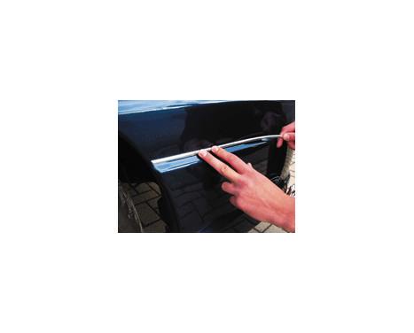Universal self-adhesive chrome frame - Width 4mm / Length 8 meters