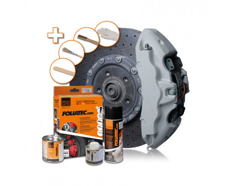 Foliatec Brake caliper paint set - circuit gray - 7 pieces, Image 2
