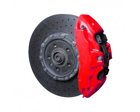 Foliatec Brake caliper paint set - NEON red - 10 pieces