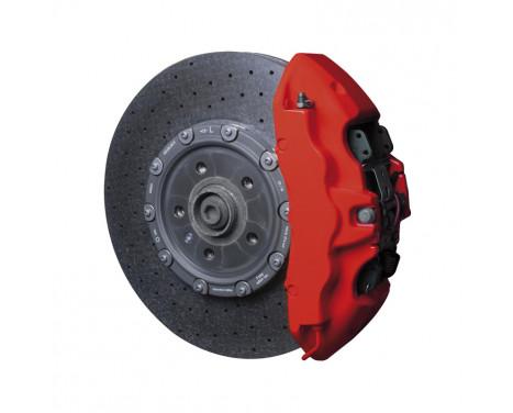 Foliatec Brake caliper paint set - racing rosso matt - 7 pieces