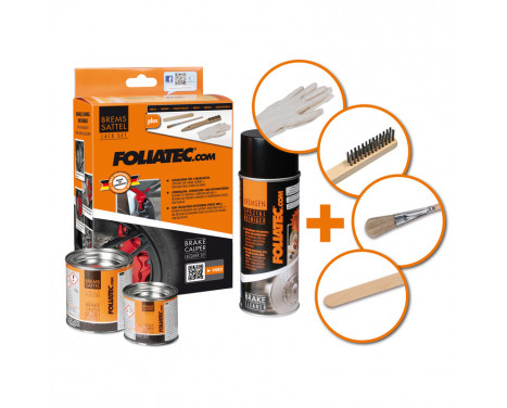 Foliatec Brake caliper paint set - speed yellow - 7 pieces, Image 3