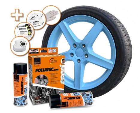Foliatec Spray Film (Spray Foil) Set - light blue glossy - 2x400ml