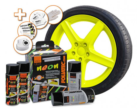 Foliatec Spray Film (Spray foil) set - NEON yellow - 4 parts