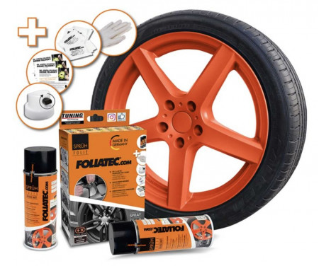 Foliatec Spray Film (Spray foil) Set - orange matt - 2x400ml