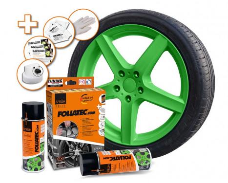 Foliatec Spray Film (Spray Foil) Set - power-green glossy - 2x400ml