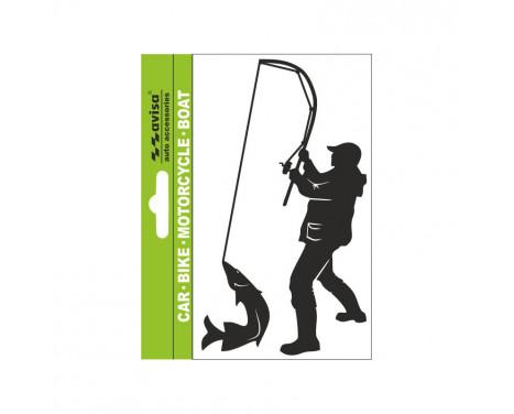 AutoTattoo Sticker Fisher Angler + Fish - 7x14cm