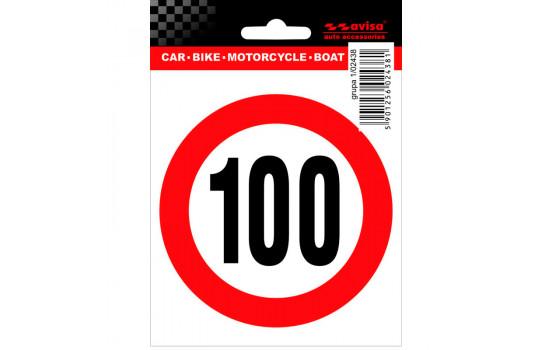 AutoTattoo Sticker Speed Limit 100km - 9,5x10cm