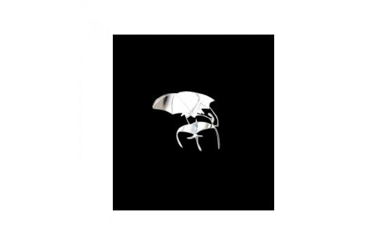 Nickel Sticker 'Umbrella' - 50x50mm