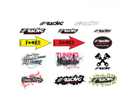 Simoni Racing Sticker Sheet 'Mixed' - 14 different stickers